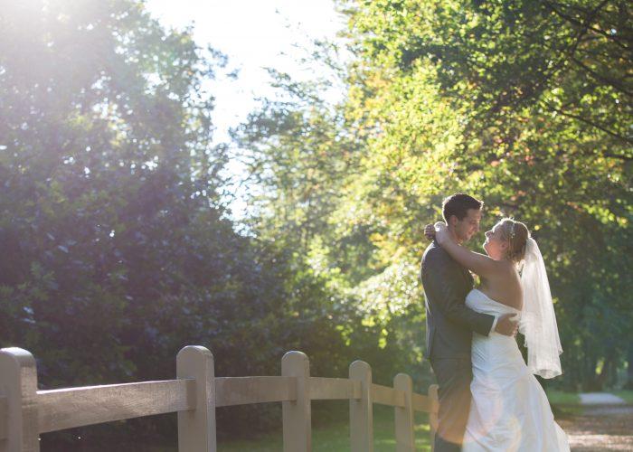 Fotoshoot trouwdag, landgoed Groenendaal
