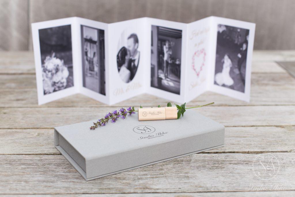 bruidsreportage op usb met luxe usb cadeaubox